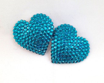 Rhinestone Heart-Shaped Nipple Pasties  - SugarKitty Couture
