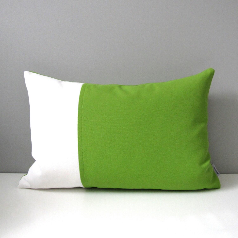 Modern Green Pillow : Modern Green Outdoor Pillow Cover Decorative Lime Green
