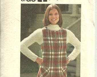 Butterick #3765 A Line Jumper Size 12 1970s Uncut Sewing Pattern