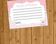 Lamb Baby Shower, Lamb Advice for the Mommy-to-be, Words of Wisdom, Instant Download