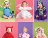 Sew & Make Simplicity 2524 / 2835 SEWING PATTERN - Baby Angel Alien Costumes sz 7-24 lbs