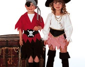 Sew & Make Butterick 6295 SEWING PATTERN - Childrens Pirate Halloween Costumes sz 2-8