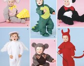 Sew & Make Simplicity 3599 / 4460 SEWING PATTERN - Baby Toddler Panda Dragon Dinosaur Mouse Angel Costumes sz 1/2-4