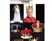 Sew & Make Butterick B5161 SEWING PATTERN - King Queen Royalty Crowns Headpieces