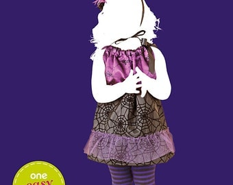 Sew & Make Simplicity 1980 SEWING PATTERN - Girls Easy Witch Costume sz 1/2-4