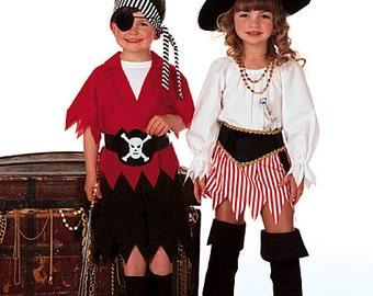 Sew & Make Butterick 6295 SEWING PATTERN - Childrens Pirate Halloween Costumes sz 2-8