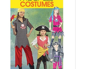 Sew & Make McCall's M5495 SEWING PATTERN - Childs Pirate Halloween Costumes sz 3-6