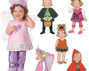 Sew & Make Simplicity 1774 SEWING PATTERN - Baby Toddler Costumes Unicorn Butterfly Witch sz 1/2-4