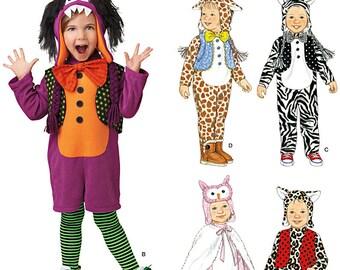Sew & Make Simplicity 1766 SEWING PATTERN - Baby Toddler Costumes Giraffe Zebra Owl sz 1/2-4