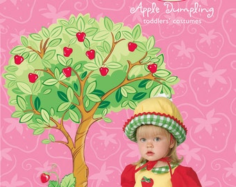 Sew & Make Simplicity 4773 SEWING PATTERN - Baby Toddler Strawberry Shortcake Costume sz 1/2-4