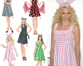 Sew & Make Simplicity 2485 SEWING PATTERN - Womens Ladybug Bunny Costumes sz 8-16