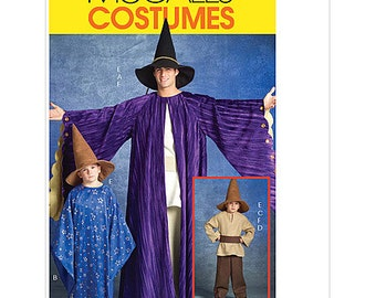 "Sew & Make McCall's M5213 SEWING PATTERN - Mens Wizard Warlock Costumes sz 34""-48"""