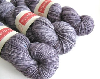 Pure Merino hand dyed sock yarn - London Skies