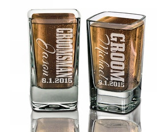 Groomsmen Gifts Wedding Shot Glasses Best Man Father of the Bride Groom Usher Engraved Weddding Favor Idea Custom Bulk Personalized Discount