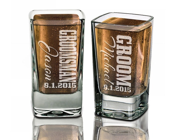 Wedding Party Gift Ideas For Groomsmen Canada : Groomsmen Gifts Wedding Shot Glasses Best Man Father of the Bride ...