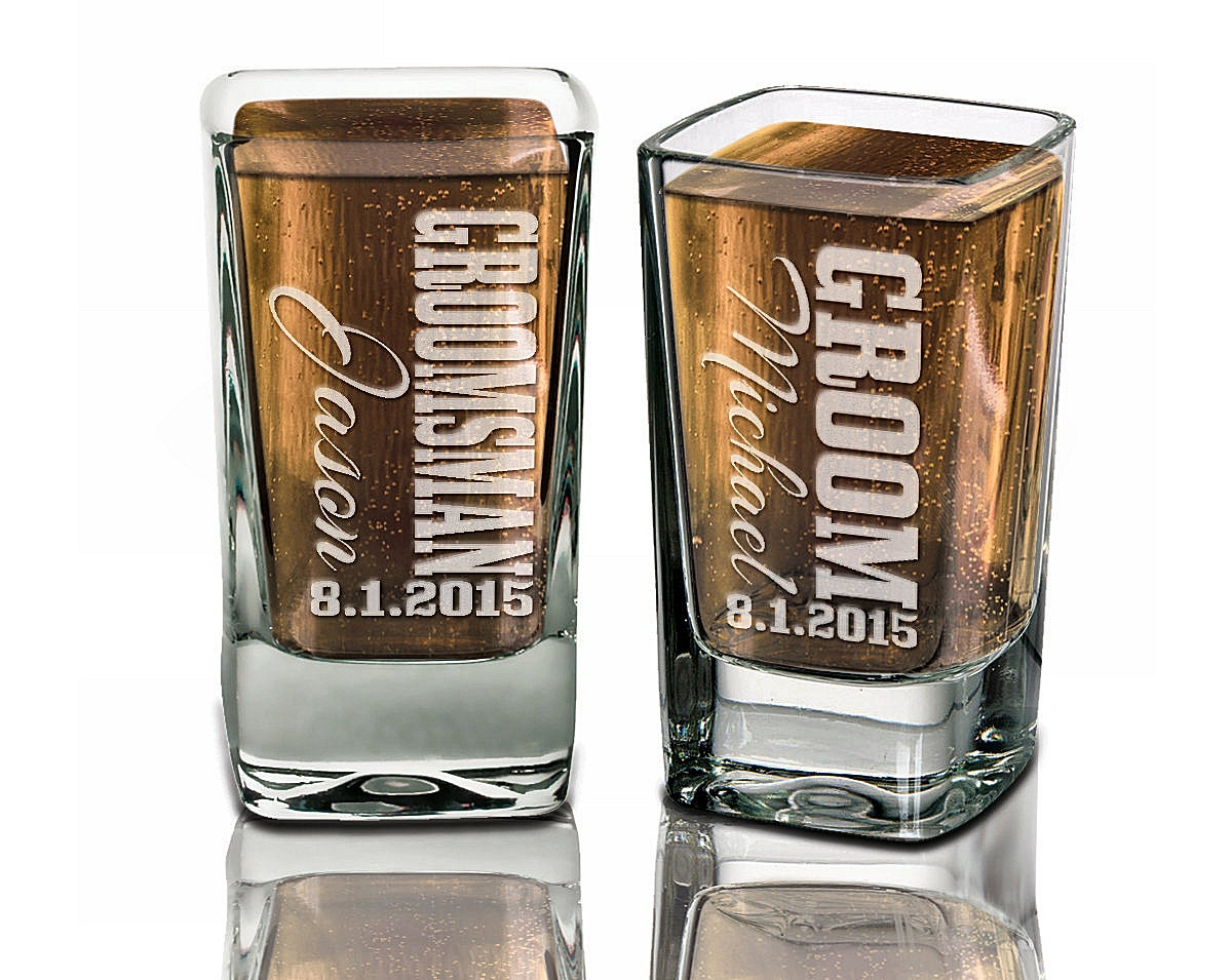 Groomsmen Wedding Gift: Groomsmen Gifts Wedding Shot Glasses Best Man Father Of The
