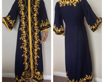 Stunning Embroidered Wool Coat // Caftan // Dress
