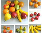 Craft Fruit Supplies Apple Fruit Decor Orange Fruit Decoration Pear Fruit Banana Fruit Peach Fruit Plastic Fruit Fake Fruit Faux Fruit Fall
