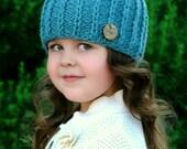 Knitting Pattern - The Ellwood Beanie (Newborn, Baby, Toddler, Child sizes)