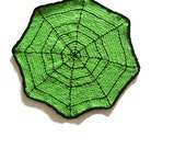 Spider Web Table Mat Halloween Decoration Hand Crochet Table Mat