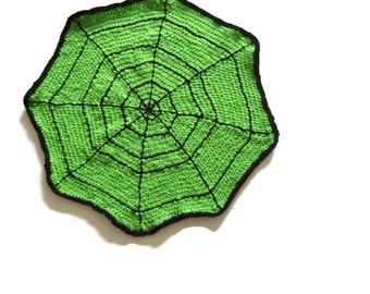 Spider Web Table Mat Halloween Decoration Hand Crochet Table Mat