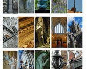 Ireland, Digital Collage Sheet, Domino, Old World Ireland Sculpture and Architecture