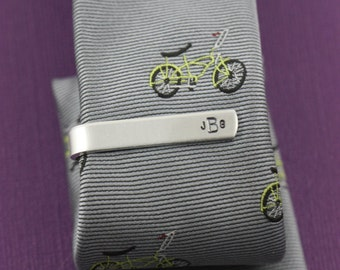 SALE - Ring Bearer Tie Bar - Personalized Tie Bar - Silver Tie Clip - Birthday Gift - Ring Bearer Gift - Gifts for Little Boy - Sons Baptism