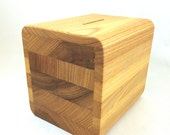 Gentleman's Coin Bank in reclaimed cypress- Great 5th Anniversary Gift For Him.