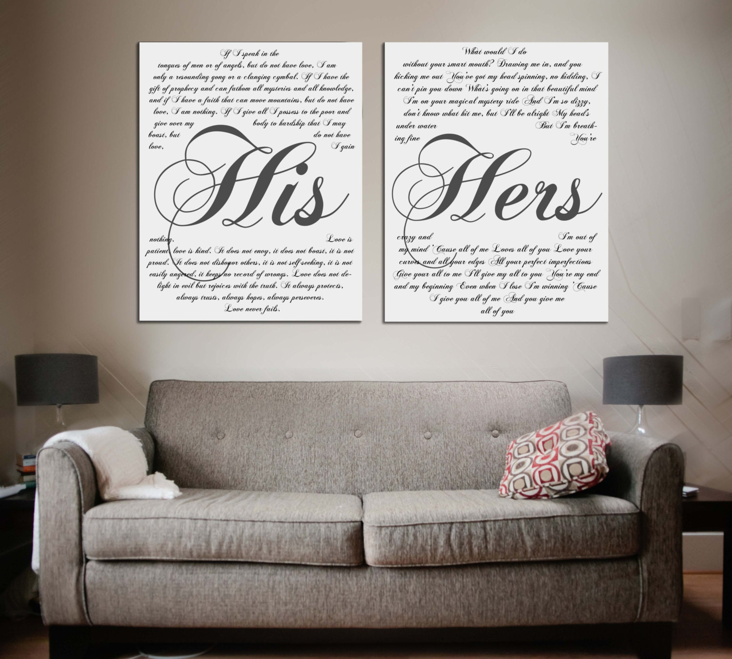 Wedding Vows Framed On Canvas A Personalized Wedding Vows