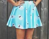 Marshmallow Ghosties Skater Skirt