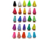 Handmade Mini Tassels, Short Leather Tassels, Rainbow Colors, Jewelry Making Supplies, Crafting Supply
