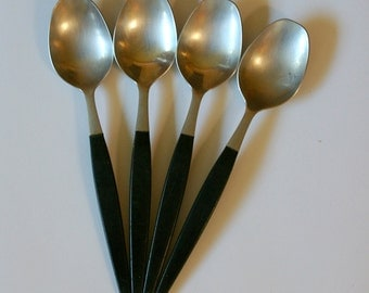"Four Gense ""Focus Deluxe"" Soup Spoons - Designed by Folke Arstrom"