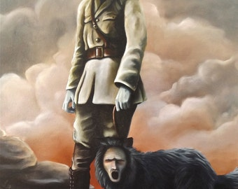 Digital Print of Original Soldier painting by Karl Jahnke