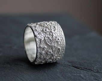 Lacey no 26 - sterling silver lace ring -  made to order in your size