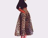 Leo Leopard High Waist Skirt.