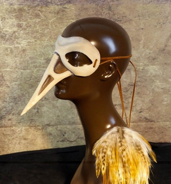 Bird Skull Leather Mask