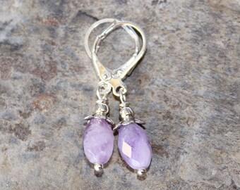 Amethyst Earrings, Lavender Earrings, Gemstone Earrings, Purple Earrings, Natural Stone Earrings, Handmade Earrings, Pastel Earrings