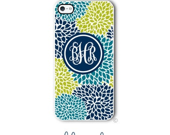 Personalized iPhone Case Custom Monogram Case iPhone 4 5 5s 5c 6 6s 6 Plus, Samsung Galaxy S4 S5 S6 Tough Phone Case Zinnia Style 298