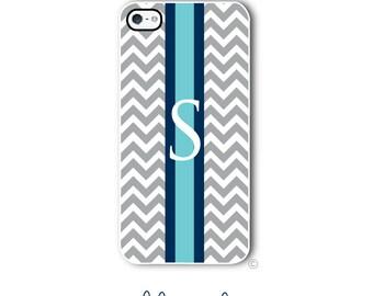 Personalized iPhone Case Custom Monogram Case iPhone 4 5 5s 5c 6 6s 6 Plus, Samsung Galaxy S4 S5 S6 Tough Phone Preppy Chevron Style 263