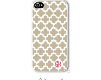 Ikat Quatrefoil Phone Case Monogram iPhone 6 Case iPhone 6s Case Samsung Galaxy S5 S6 Case iPhone 5 iPhone 6 Plus iPhone 5c Style 237