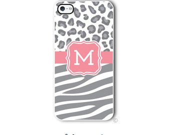 Zebra Cheetah Phone Case Monogram iPhone 6 Case iPhone 6s Case Samsung Galaxy S5 S6 Case iPhone 5 Case iPhone 6 Plus iPhone 5c Style 297