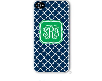 Clover Quatrefoil Phone Case Monogram iPhone 6 Case iPhone 6s Case Samsung Galaxy S5 S6 Case iPhone 5 Case iPhone 6 Plus iPhone 5c Style 204