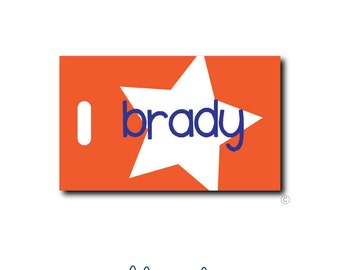 Star...Personalized Luggage Bag Tag