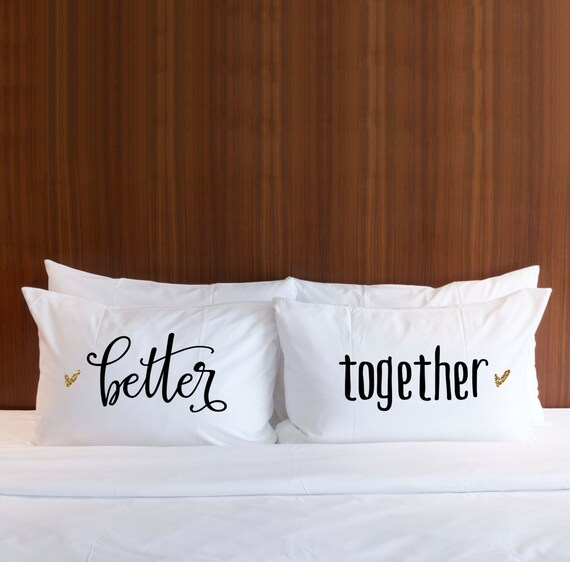 Wedding Gift for CouplesBetter Together Pillow Case Glitter, Gift ...
