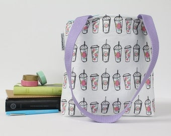 floral coffee cups bible bag