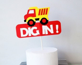 Dig In Centerpiece, Construction Party, Handmade for you, A1221