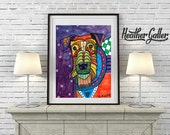 60% Off- Airedale Terrier Art  Dog poster print of painting   Art Painting (HG106)