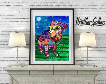 DIGITAL Print File - CHIHUAHUA art - Chihuahua art dog Poster Print of painting by Heather Galler (HG295)
