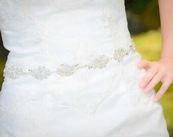 Swarovski Sash - Crystal Belt - Bridal Sash - Bridal Belt - Wedding Sash - Wedding Belt - Crystal Sash - Swarovski Belt - Vivian