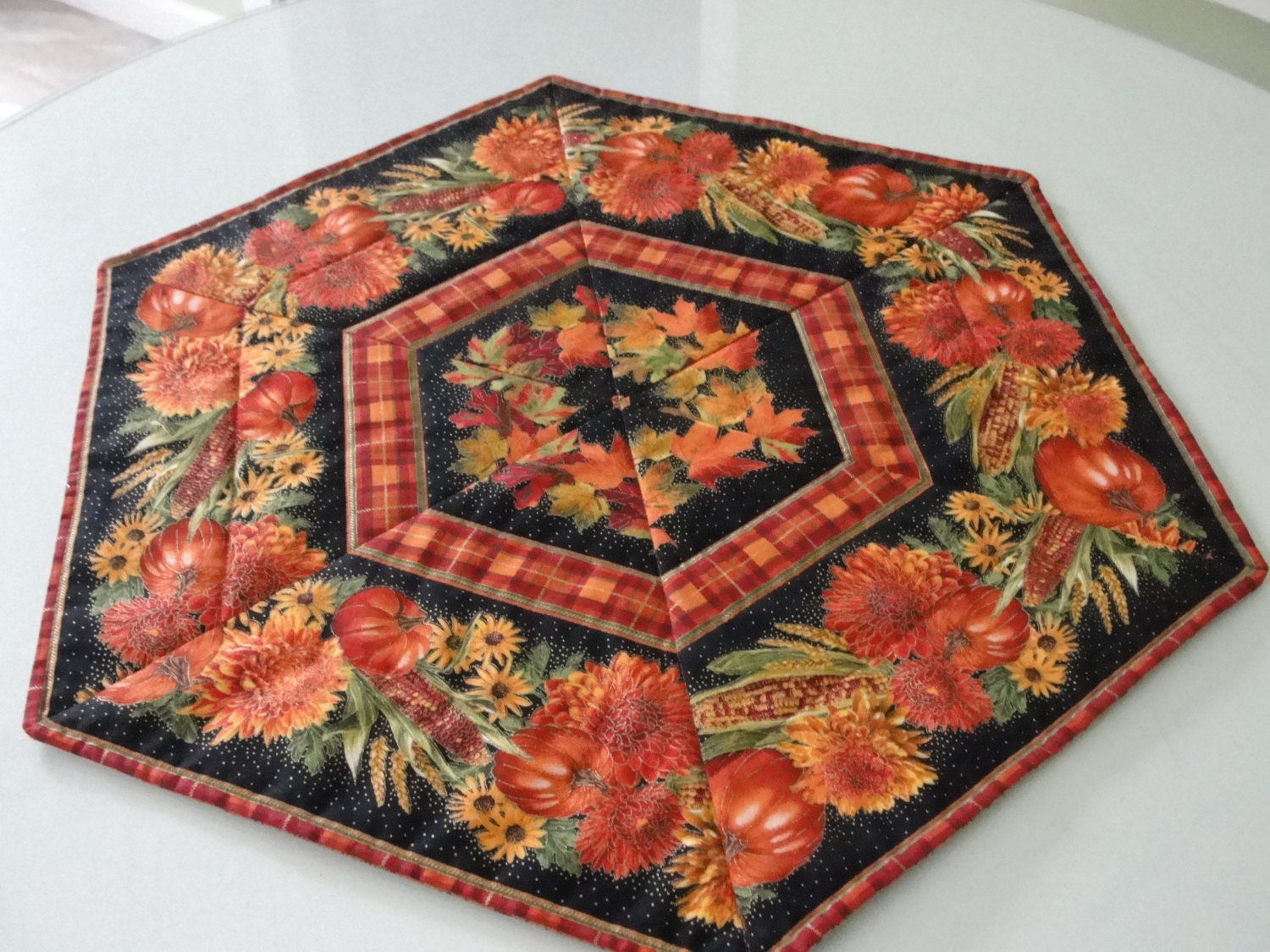 Fall Harvest Quilted Table Topper